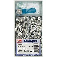 Prym Taschenringe silber 2 Stück 35mm  Taschenverschluß Ring Karabiner 417890