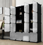 16-20-Cube-DIY-Plastic-Storage-Wardrobe-Shoe-Organizer-Shelves-Unit-Hanging thumbnail 5