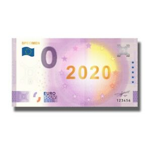 2020 Euro Souvenir Banknote SPECIMEN Gold Foil Billet Souvenir Euroschein