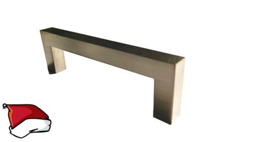 Square Cabinet Drawer Door Bar Steel Handle Pull knob Hardware Brushed Nickel