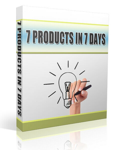 7 Products In 7 Days (ebook-pdf plr file) Can be sold