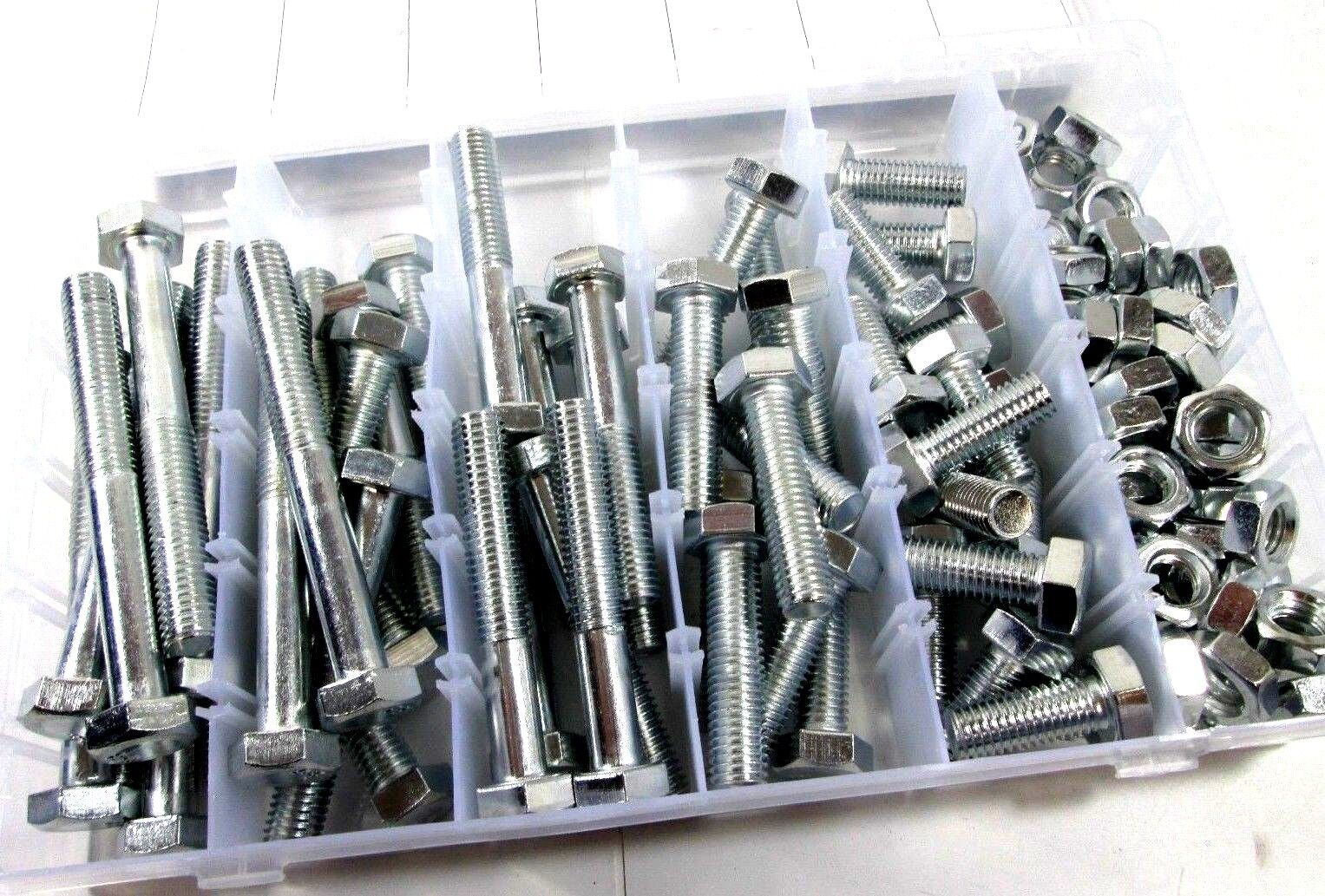 Nuts and Bolts Assortment 100PC 12mm M12 x 1.75mm Hi Tensile 8.8  HW004