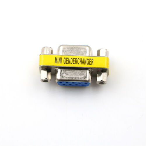 Serial RS-232 DB9 9 Pin Female to Female F//F Gender Changer Coupler Adapter BR