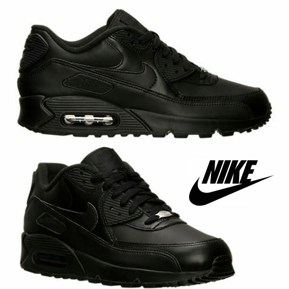 Nike Air Max 90 Hommes Running Sneakers Athletic Lightweight Sport Gym Leather