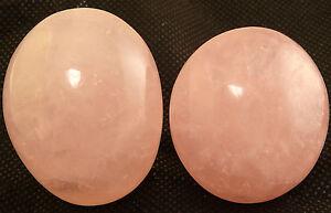 ROSE QUARTZ PEBBLES LOT OF 2 Meditation Healing Gem Crystal Mineral Madagascar