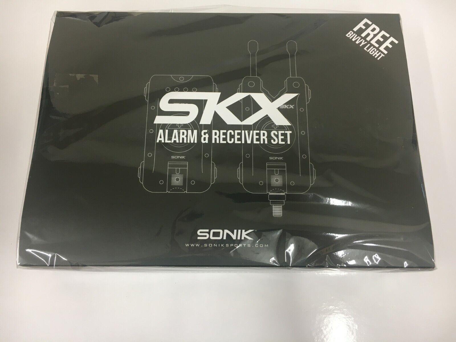 Sonik SKX Alarma y Receptor Set con libre Vivac Luz Nuevo 2019 SKX3+1AL