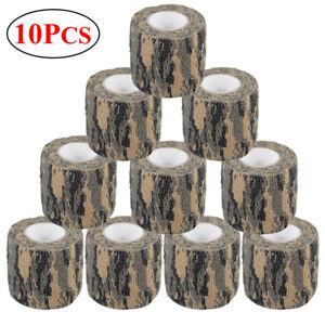 10-Roll-4-5M-Woodland-Camo-Gun-Wrap-Rifle-Gun-Hunting-Camouflage-Stealth-Tape