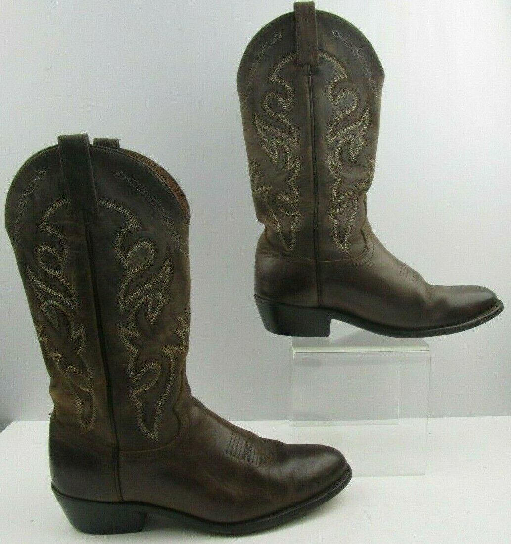 Mens Dan Post Brown Leather Western Cowboy Boots Size   10 D