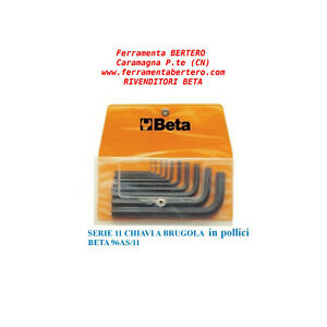 SERIE-DI-11-CHIAVI-A-BRUGOLA-IN-POLLICI-BETA-96AS-B11
