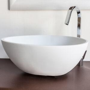 Lavabo bagno da appoggio in resina moderno lavandino sospeso Sodo ...