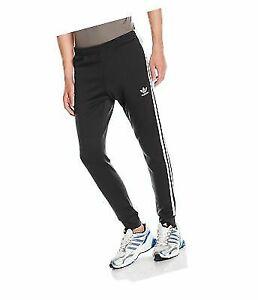 adidas Superstar Cuffed Track Pants Mens Aj6960 Black White Slim Fit Size XL