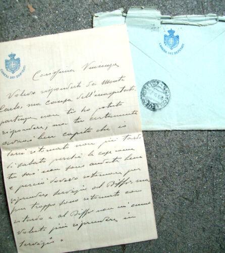 1925 LONGUE LETTRE SANS DOUTE DU CUISINIER DE LA CHAMBRE DES DÉPUTÉS À ROME