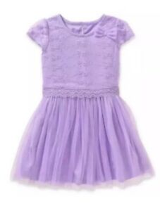 Healthtex Toddler Girls Bow Detail Tulle Dress Size 5T Pink