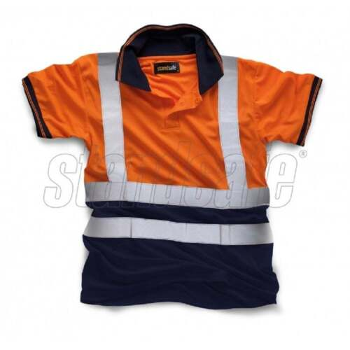 Standsafe Two Tone Hi Vis Polo T ShirtGO//RT Railway HighwayHi Vis Viz