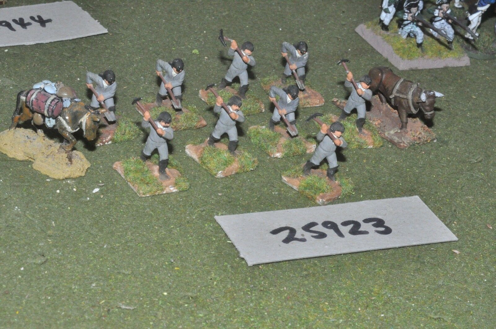 25mm napoleonic   french - engineers 11 figures - inf (25923)