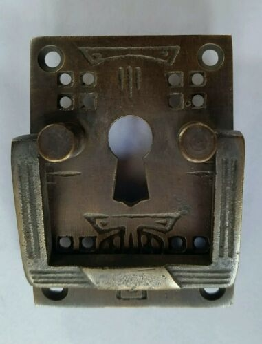 """key hole 2/"""" #H27 4 Antique Style Arts and Crafts Mission Brass Handles Pull w"""