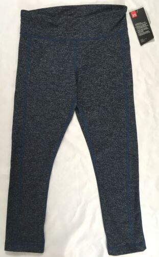 Under Armour Women/'s Fitted Crop Leggings Navy Blue 1291286 Size S