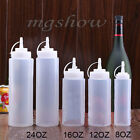 New Kitchen Plastic Squeeze Bottle Dispenser Cruet for Sauce Vinegar Ketchup