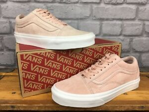 84d1038796 VANS LADIES OLD SKOOL PREMIUM SUEDE PALE PINK TRAINERS VARIOUS SIZES ...