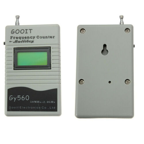 GY560 Frequency Meter LCD Display Counter Two Way Radio Transceiver 50MHz-2.4GHz