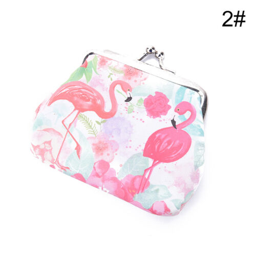 flamingos women wallet small card holder coin purse ladies clutch handbag XJ