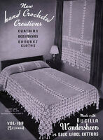 Bucilla 109 C.1936 - Hand Crochet Creations, Vintage Afghan & Curtain Patterns