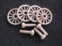 Wagon & Cannon Wheels - 1 Inch Diameter Maple Wood - Miniature Scale Logging Toy