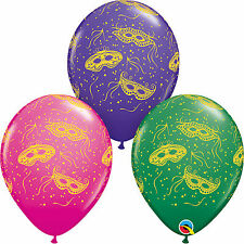 Mardi Gras Masks-A-Round Qualatex Latex /& Foil Balloons Party Decoration