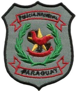 Recuerdos de Policía Nacional de Paraguay Modelo Antiguo Parche Emblema EB01197