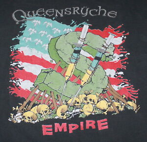 634ae5ae16c Image is loading Vintage-QUEENSRYCHE-Building-Empires-World-Tour-1991-Mens-