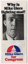 1978 MIKE GIERE El Paso Texas POLITICAL Brochure TEXAN TX Congress US HOUSE Rep