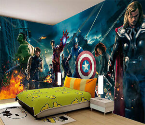 Avengers marvel super heroes full wall mural photo for Avengers wall mural uk