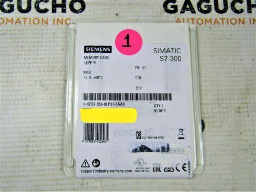SEALED 2019 SIEMENS 6ES7 953-8LP31-0AA0 SIMATIC MMC Micro Memory Card
