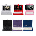 7'' Inch PU Leather Case Cover USB Keyboard Stand For Android Tablet PC Laptop