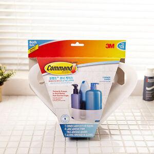 Details about 3M Command Bathroom Corner Caddy Shelf Shower Storage  Organizer noo