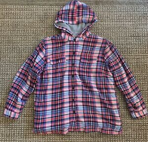 Women-s-LL-Bean-Long-Sleeve-Fleece-Lined-Plaid-Button-Flannel-Shirt-Size-XL-1X