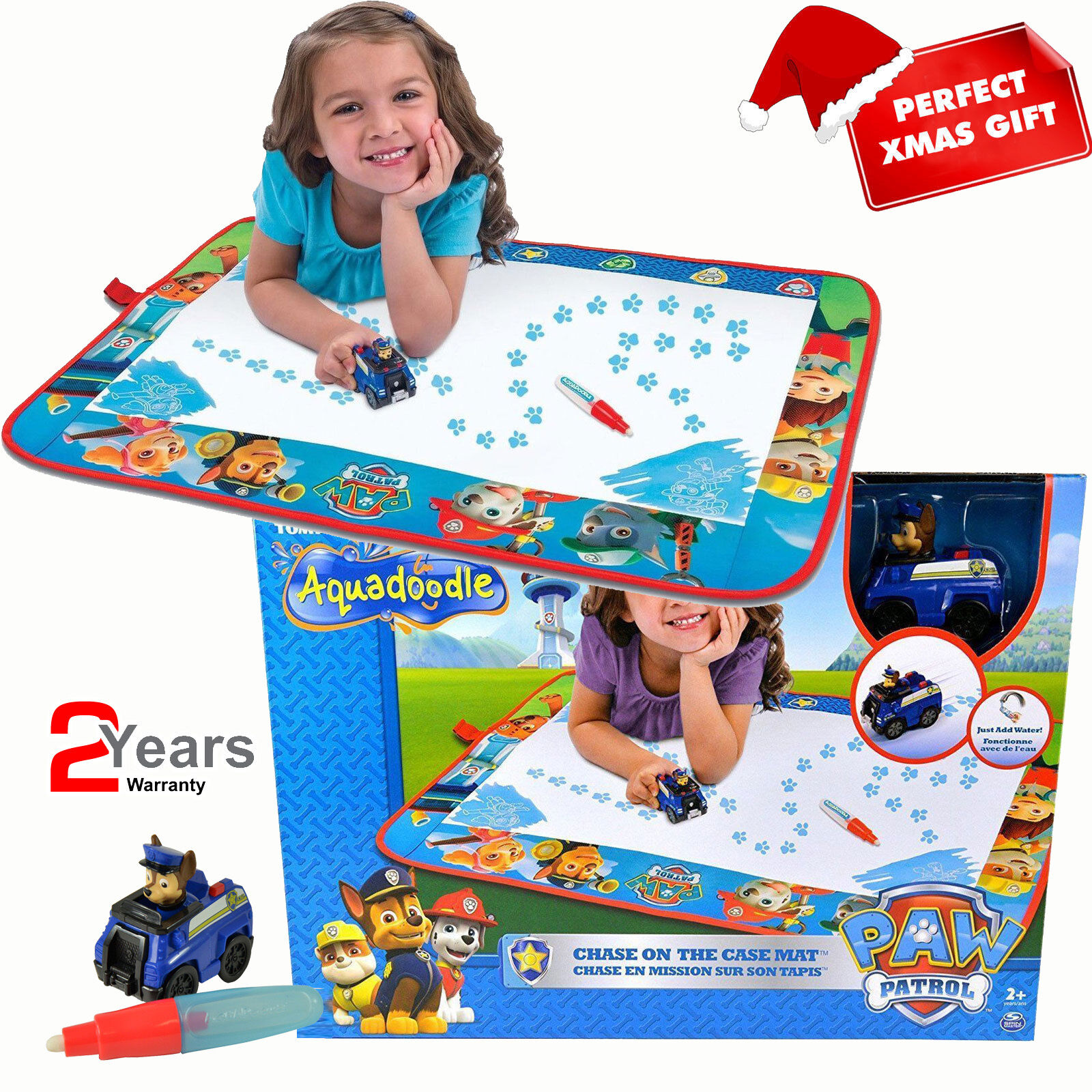 E72523 TOMY Paw Patrol Aquadoodle Large Water Play Mat Toddler Children Age 2