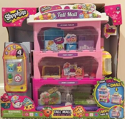 Shopkins Tall Mall Carry Case New 4 Exclusive Shopkins Ebay