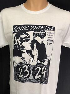 a85c0c4b5 Nirvana Sonic Youth T Shirt STP Kurt Cobain Seattle Portland Concert ...