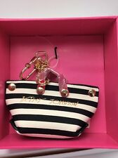 Betsey Johnson Mini Bag Dangle Keychain FOB