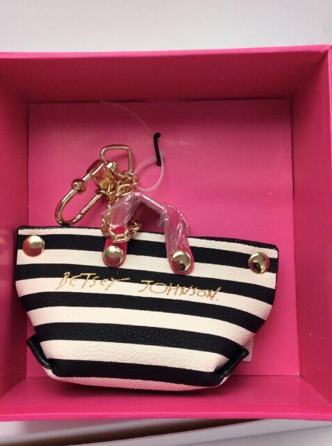 Betsey Johnson Mini Bag Dangle Keychain FOB BN3 EE