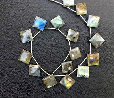 Very Good Quality Size-20-21mm Approx Natural Labradorite Faceted Fancy Heart Shape Beads 7 Pieces Strand 7 Inch LB-087