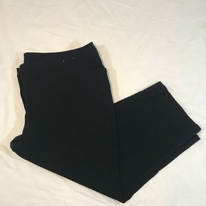 Lane-Bryant-Cropped-Capri-Pants-Black-Stretchy-Size-22