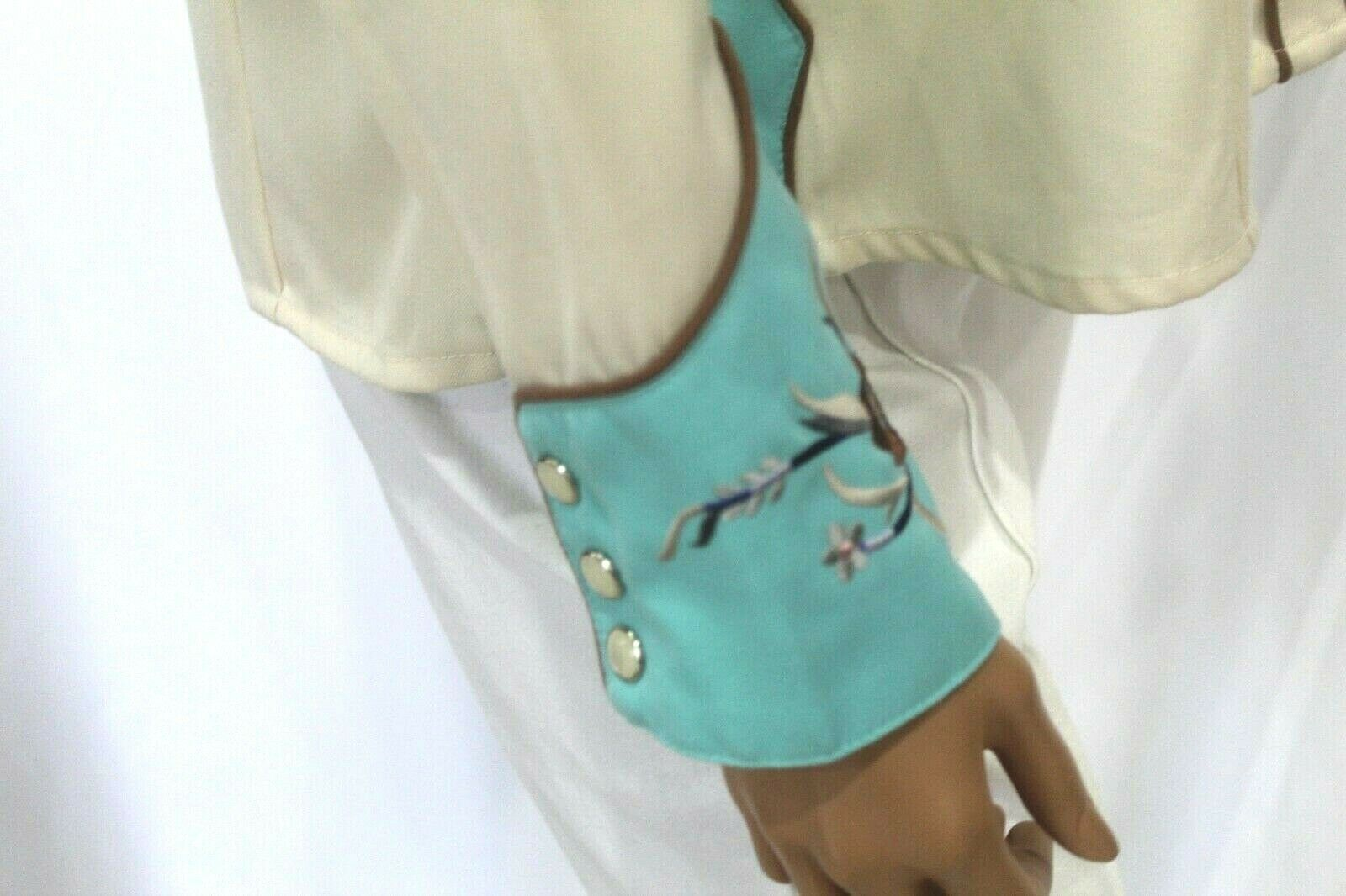 *VINTAGE* Scully~Women's Pearl Snap Western Shirt… - image 7