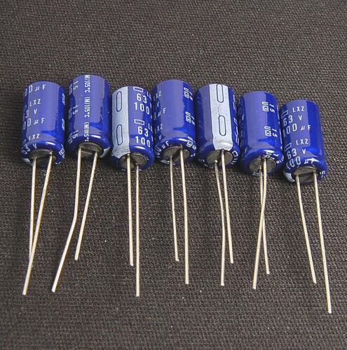 10pcs 100uf 63v Electrolytic Capacitors 63v100uf Japan NCC LXZ Low impedance