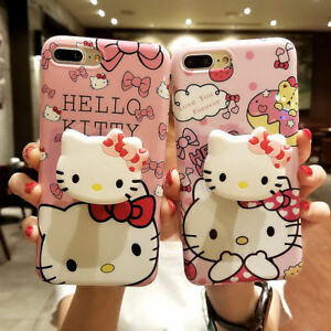 a3c1f646f For iPhone X XS Max 8 7 6 plus Cute Hello kitty toy Stand Holder ...