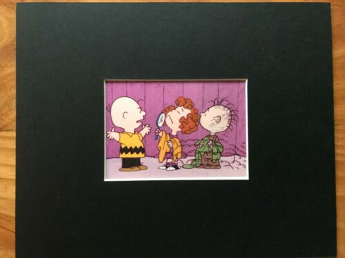 CHARLIE BROWN~FRIEDA /& PIG PEN~PEANUTS~8 x 10 Mat Print~NATURALLY CURLY HAIR~NEW