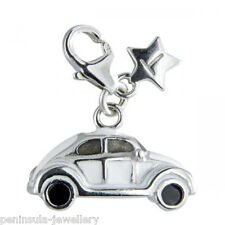 Tingle VW Beetle Car Sterling Silver Clip on Charm with Gift Box and Bag SCH115