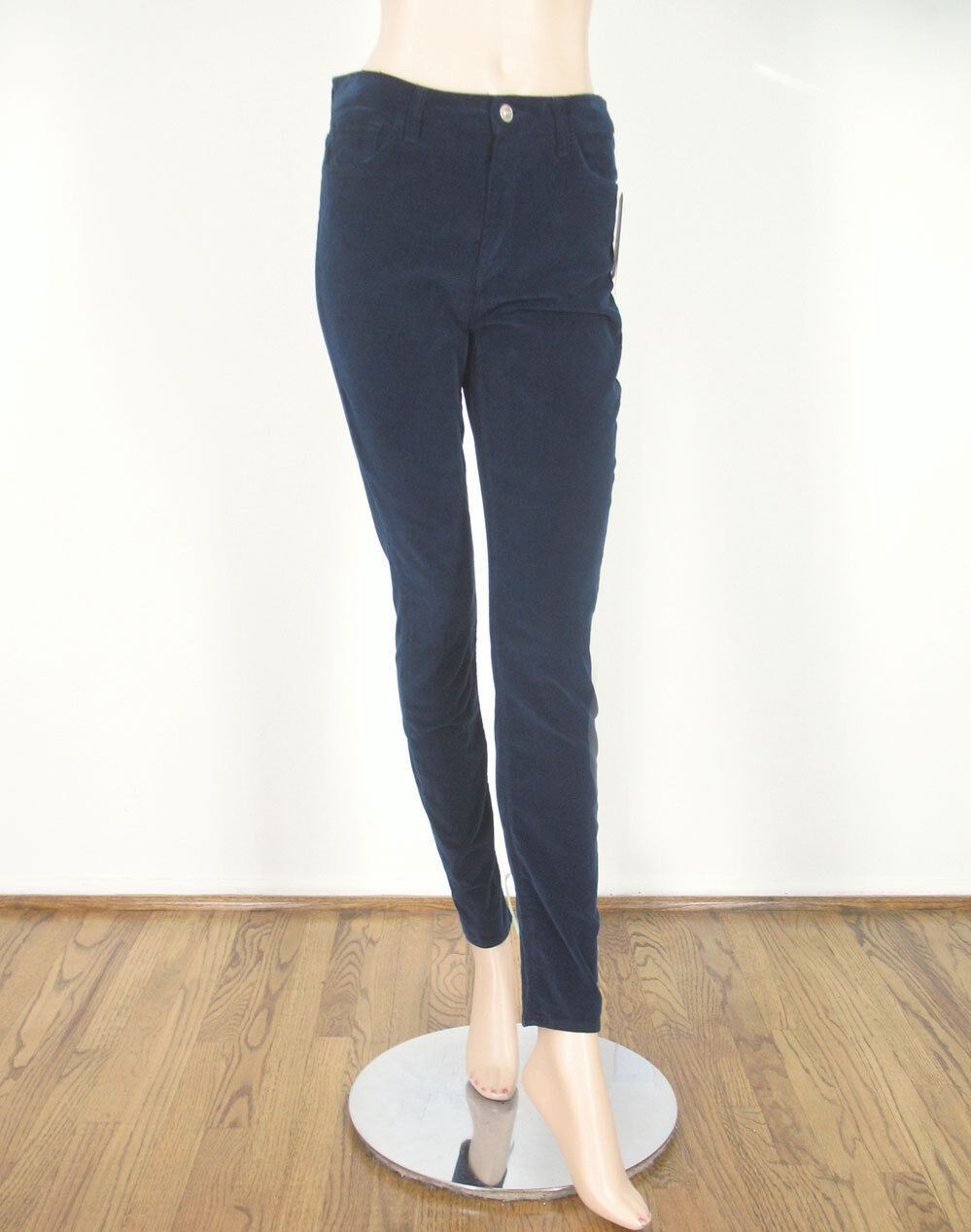 7 For All Mankind Skinny Corduroy Pants Navy bluee Stretch 29 9273 -FLAW