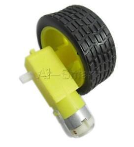Arduino-ruedas-Llantas-Plastico-Coche-robot-inteligente-con-motor-DC-3-6v-Gear-Para-Robot